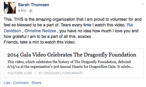 FB Post from Sarah Thomsen