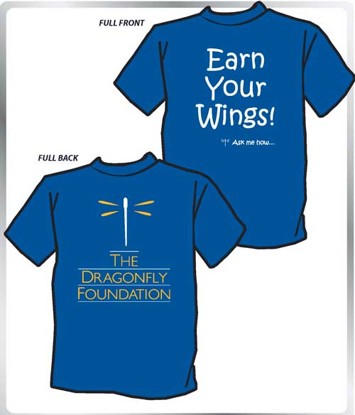 """""""Earn Your Wings"""" Volunteer T-shirts"""