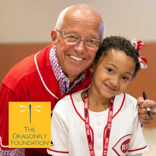 Marty Brennaman and a Dragonfly at Reds Fest