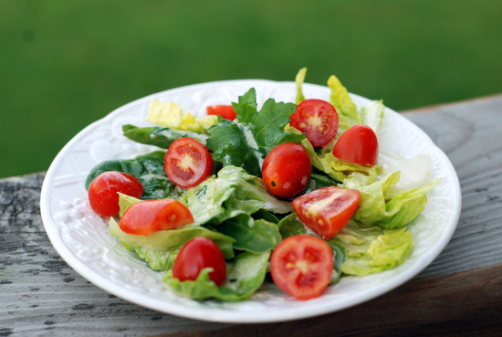 greens with tomatoes