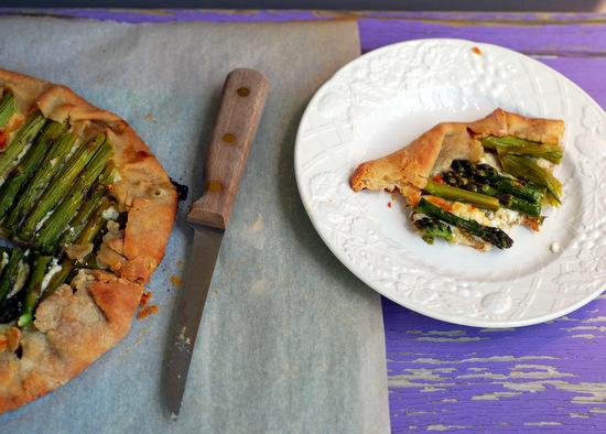 asparagus galette, cut 2