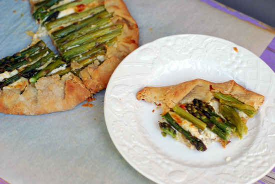 asparagus galette, cut 1
