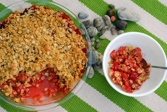 strawberry rhubarb crisp 4