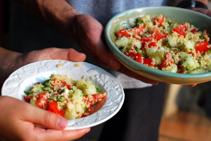 two bowls of tabbouleh