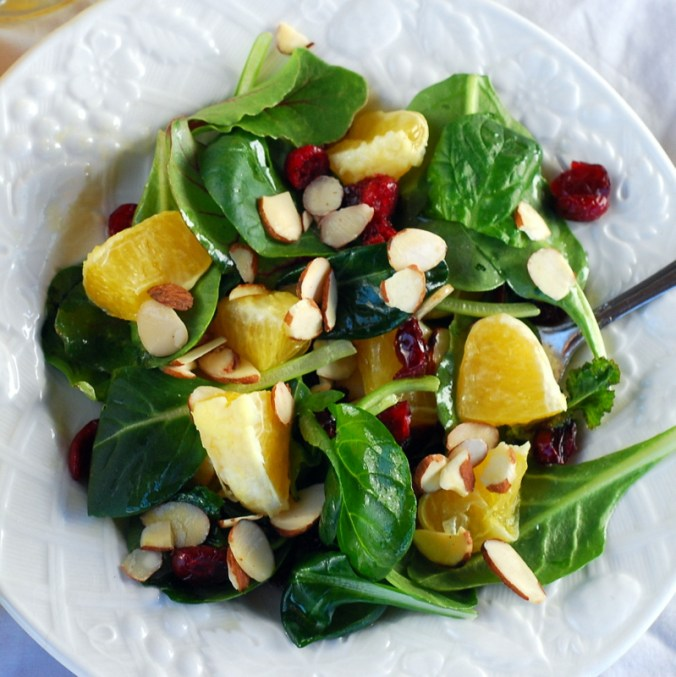 winter greens salad 7