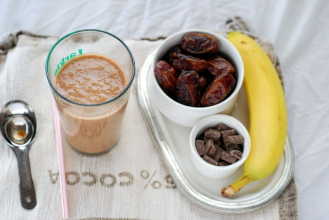 soothing smoothie with banana