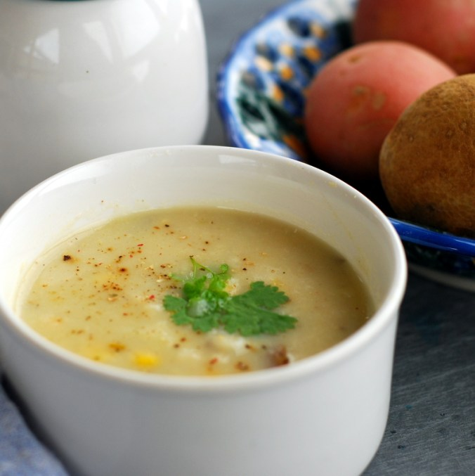 potato soup with potatoes 2