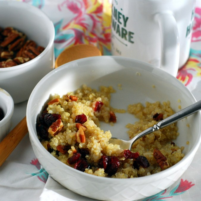 dried berry quinoa breakfast bowl edit