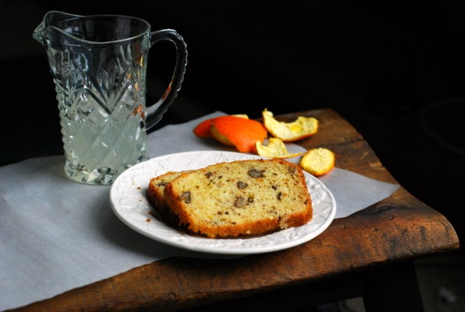 citrus nut bread on bench 2