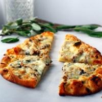 Mushroom-Sage Flatbread Pizza