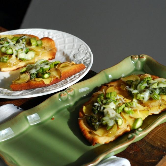 asparagus potato naan white and green 2