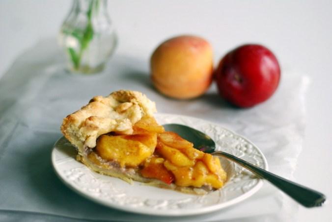 peach plulm galette