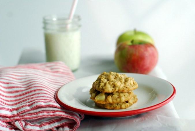 oatmeal-apple cookies