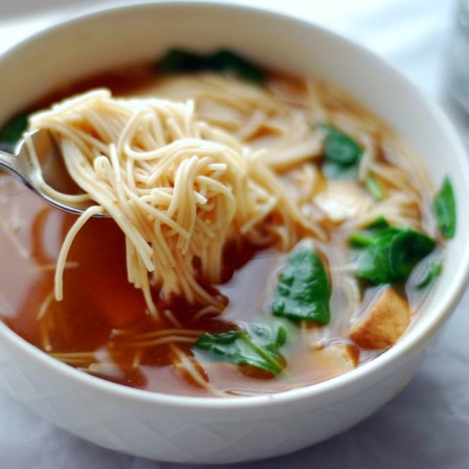 tofu miso noodle bowl