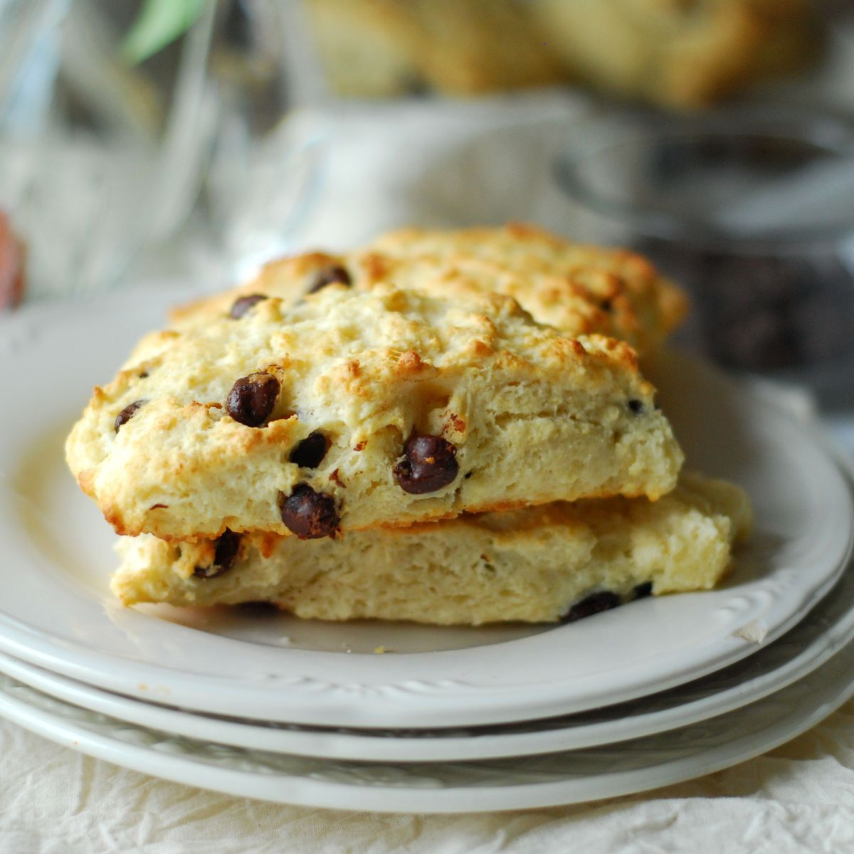 Chocolate Chip Honey Scones