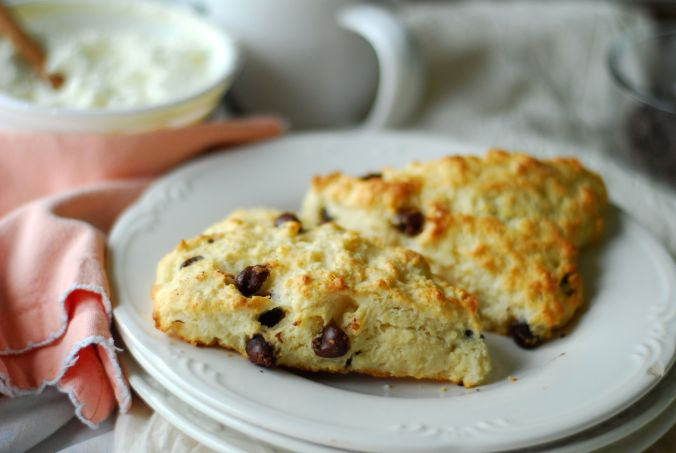 chocolate chip honey scones 1027