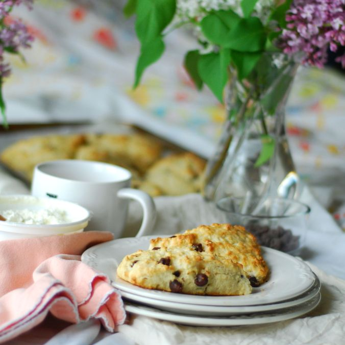 scones with lilacs
