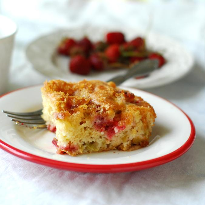 strawberry rhubarb coffee cake 1108