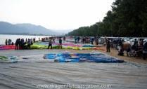 The hot air balloon race across Lake Biwako