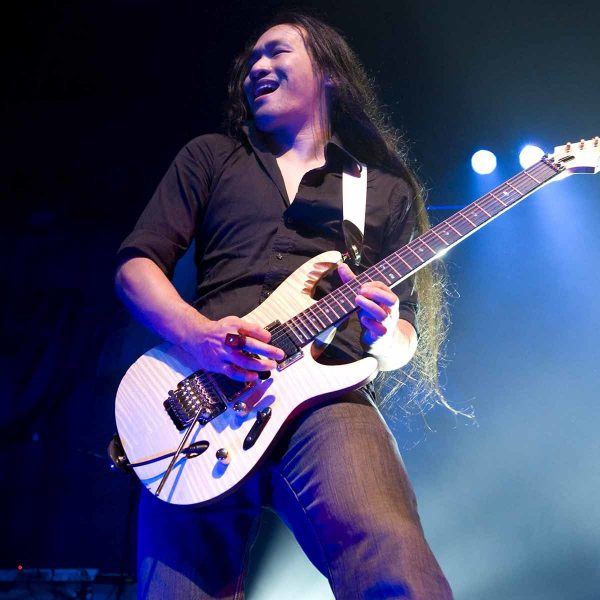 Herman Li ( DragonForce) photographed in Ventura at the Ventura Theater on 09/17/09