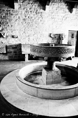 Ancient preserved rooms inside the castle of Carcassonne.