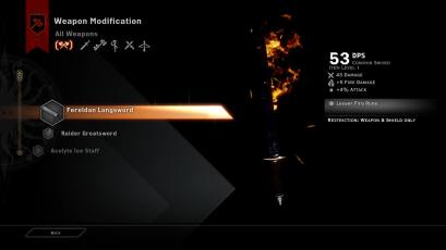 Dragon Age Inquisition Multiplayer Crafting and Weapon Modification