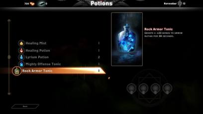 Dragon Age Inquisition Multiplayer Potions Menu