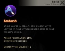 Dragon Age Inquisition - Ambush Subterfuge rogue skill