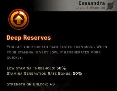 Dragon Age Inquisition - Deep Reserves Battlemaster warrior skill