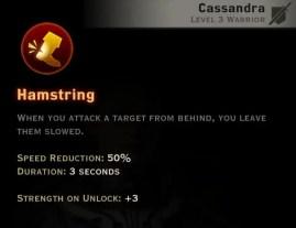 Dragon Age Inquisition - Hamstring Battlemaster warrior skill