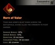 Dragon Age Inquisition - Horn of Valor Battlemaster warrior skill