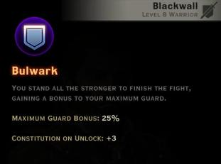 Dragon Age Inquisition - Bulwark Champion warrior skill