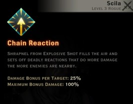 Dragon Age Inquisition - Chain Reaction Archery rogue skill