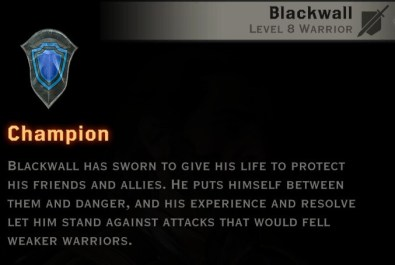 Dragon Age Inquisition - Champion warrior specialization