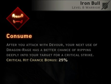 Dragon Age Inquisition - Consume Reaver warrior skill
