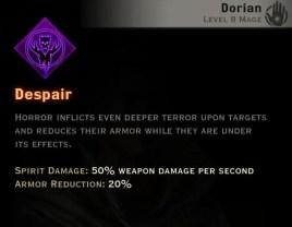 Dragon Age Inquisition - Despair Necromancer mage skill