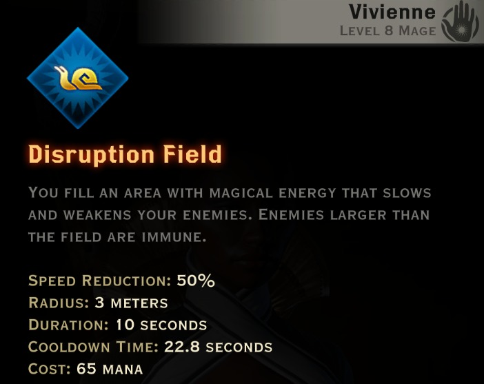 Dragon Age Inquisition - Disruption Field Knight-Enchanter mage skill