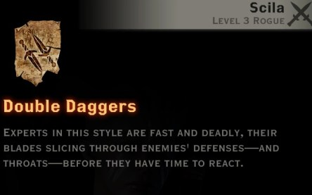 Dragon Age Inquisition - Double Daggers rogue skill tree