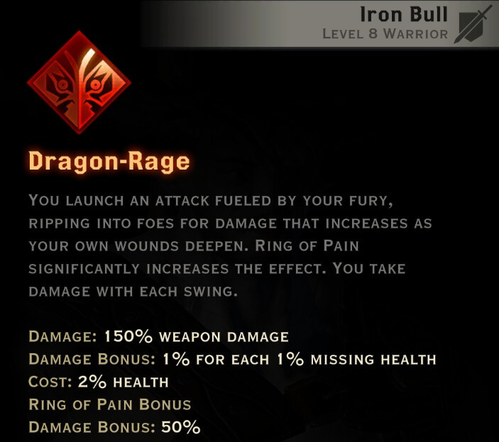 Dragon Age Inquisition - Dragon-Rage Reaver warrior skill