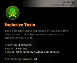 Dragon Age Inquisition - Explosive Toxin Sabotage rogue skill