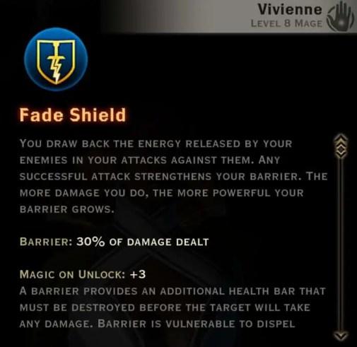 Dragon Age Inquisition - Fade Shield Knight-Enchanter mage skill