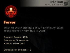 Dragon Age Inquisition - Fervor Reaver warrior skill