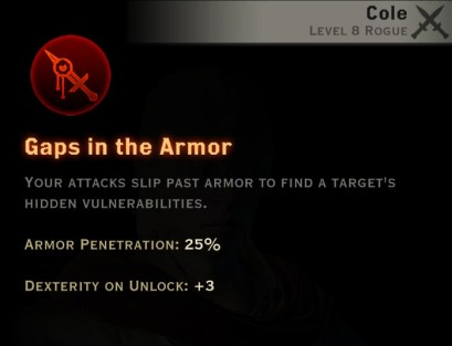 Dragon Age Inquisition - Gaps in the Armor Assassin rogue skill