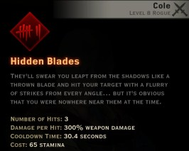 Dragon Age Inquisition - Hidden Blades Assassin rogue skill