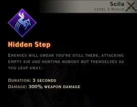 Dragon Age Inquisition - Hidden Step Subterfuge rogue skill