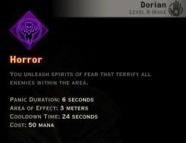 Dragon Age Inquisition - Horror Necromancer mage skill