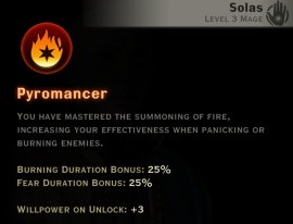 Dragon Age Inquisition - Pyromancer Inferno mage skill