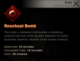 Dragon Age Inquisition - Knockout Bomb Assassin rogue skill