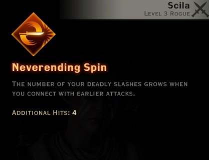 Dragon Age Inquisition - Neverending Spin Double Daggers rogue skill