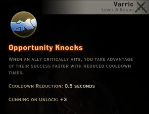 Dragon Age Inquisition - Opportunity Knocks Artificer rogue skill